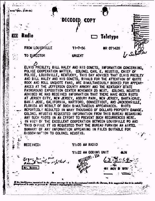 elvis fbi 1956