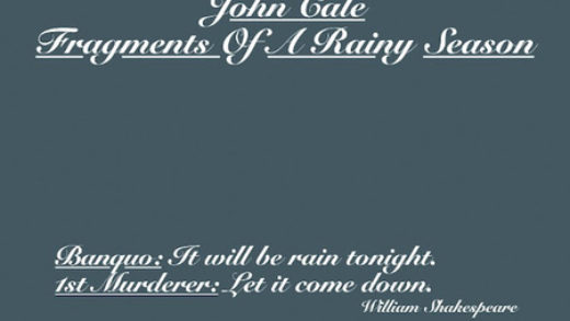 john cale fragments of a rainy season recensione